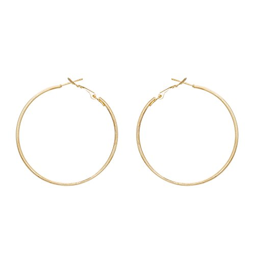 The Luxor Designer Gold Plated Hoop Earrings for Women
