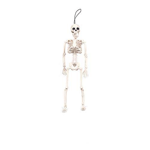 Delicacydex Kindertagesgeschenk Baby Kids Toys Geschenke Movable Mr. Bones Skeleton Menschliches Modell Schädel Ganzkörper Mini Figur Spielzeug Halloween - Weiß