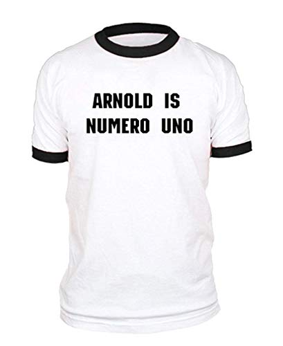 Arnold is Numero UNO Weightlifting Champ Cotton Ringer Tee -