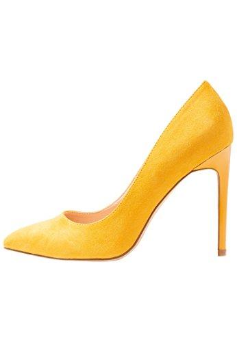 Even&ODD Scarpe con Tacco Alto da Donna - Tacchi Eleganti da Donna con Tacco a Spillo, Giallo, 39