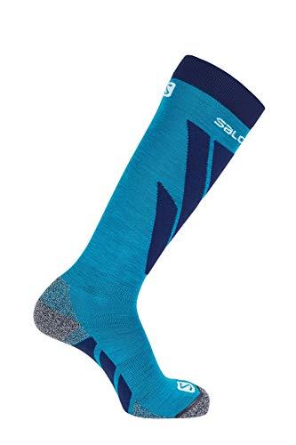 Salomon 1 Paar Dicke Unisex-Socken, S/Access, blau (hawaiian surf)/blau (medieval blue), Größe L (42-44), LC1018400