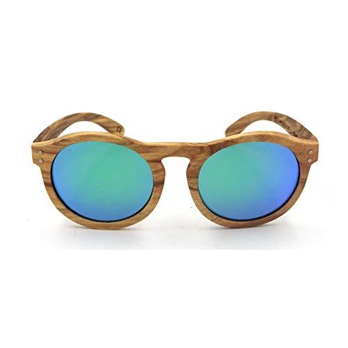 Young shinee Sportbrillen Polarisierte Sonnenbrille, Vintage Runde Doppel Reis Nagel handgefertigte...