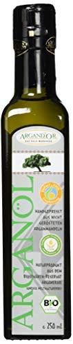 Argand\'or Reines Bio-Arganöl, handgepresst, aus nicht gerösteten Argannusskernen, besonders milder Geschmack, 250 ml, 1er Pack (1 x 250 ml)