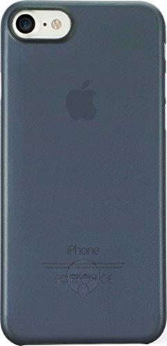 Ozaki O!Coat 0.3 Jelly Slim Schutzhülle für Apple iPhone 7 / 8 in blau [0.3mm dünn | 4g leicht | Extrem passgenau | Transparent] - OC735DB
