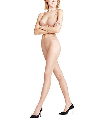 FALKE Damen High Heel Strumpfhose, 7 DEN, pow/black, M - Falke-high Heel