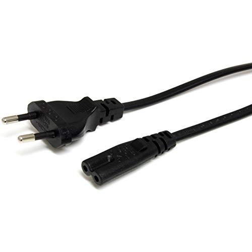 StarTech.com PXTNB2SEU1M - Cable de alimentación estándar, Cable Europeo a C7 para Ordenador portátil