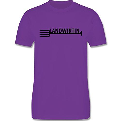 Landwirt - Landwirtin - Herren Premium T-Shirt Lila