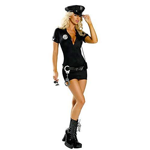 HaoLiao Europäische und amerikanische Spieluniformen, Black Police Loaded Police Uniforms, Instructor ()