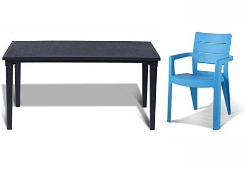 tepro Gartenmöbel-Set Futura und Ibiza graphit / hellblau