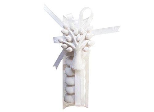 12 porta confetti 5210 + 12 magneti albero della vita 1032056 + nastrino +bigliettini bomboniera