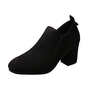 RTRY Donna Luce Tacchi Suole Pu Estate Abbigliamento Casual Blocco Tacco Beige Nero 2A-2 3/4In US6 / EU36 / UK4 / CN36