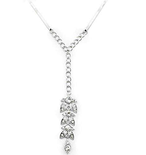 Deamrkt Damen Flash-Diamant-Blattrand Clip Haarnadel Haarschmuck -