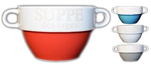 asse Suppenschüssel Schüssel Suppenterrine Landhaus NEU (Blau) ()