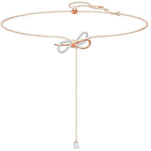 Chuanshanshu Simple Women\'s Halskette:Halskette mit Halsanhänger(None Rosegold.)