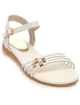 sandalias de diamantes de imitación zapatos femeninos planos antideslizantes de suela blanda casuales con sandalias...