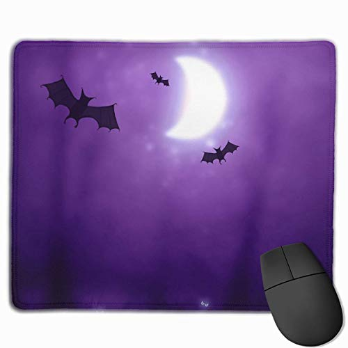 ads Custom, Non-Slip Mouse Pads Rectangle Rubber Mousepad Bats Halloween Print Gaming Mouse Pad ()