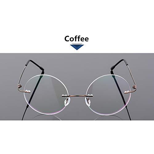 YMTP Faltbare Ultraleichte Memory Titan Randlose Runde Myopie Brillen Optische Brillengestell Männer Brillen