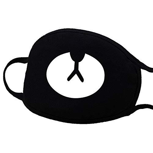 llmaske, Niedliche Unisex Anti Staub Gesichts Mund Maske für Kinder Teenager Männer Frauen Halloween Zahn Bären Muster (Size : #8) ()