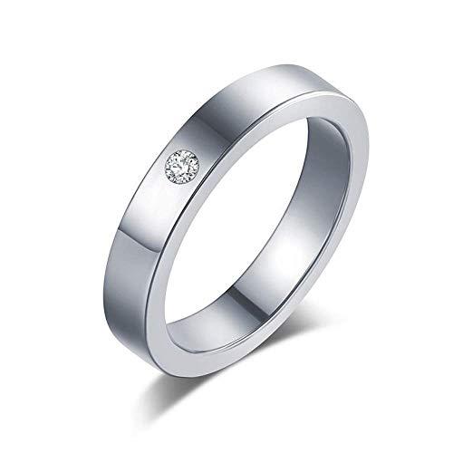 J-Z Fashionring Titan Edelstahl Ringe für Frauen Einfachheit Zirkonia Modeschmuck Großhandel, B, 10, Ring, 10
