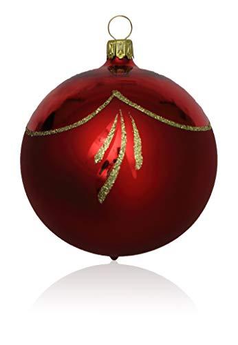 t 3 Stück d 8cm Christbaumschmuck Weihnachtsschmuck mundgeblasen,handdekoriert Lauschaer Glas das Original ()