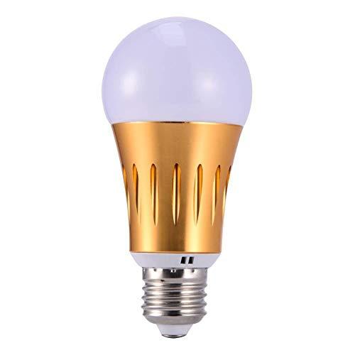 AOTUO E14 Smart WiFi Light LED Bombilla Regulable 7W RGB Lámpara Regulable Compatible para Alexa Google Home (Gold)