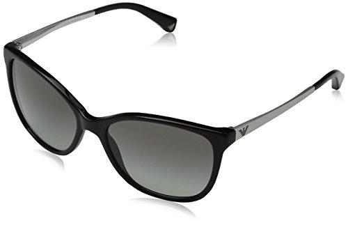 Emporio Armani Unisex EA4025 Sonnenbrille, Mehrfarbig (black/silver 501711), Medium (Herstellergröße: 55)