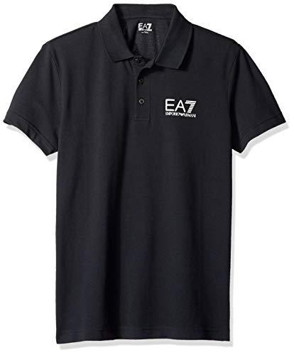 Polo EA7 con logo (L, Blu notte)
