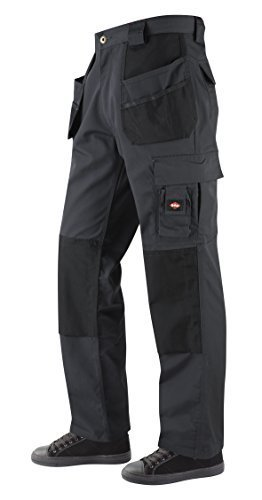 Lee Cooper Holster Pocket Cargo Trouser - Arbeitshose-dark grey-36/30 (Handy Shorts Pocket)