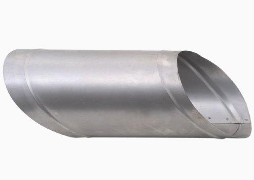 HARK Rauchrohr-Wandfutter einwandig Ø 210 mm für 45° Anschl. schräg