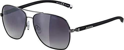 ALPINA Erwachsene Limio Sonnenbrille, Gun-Black, One Size