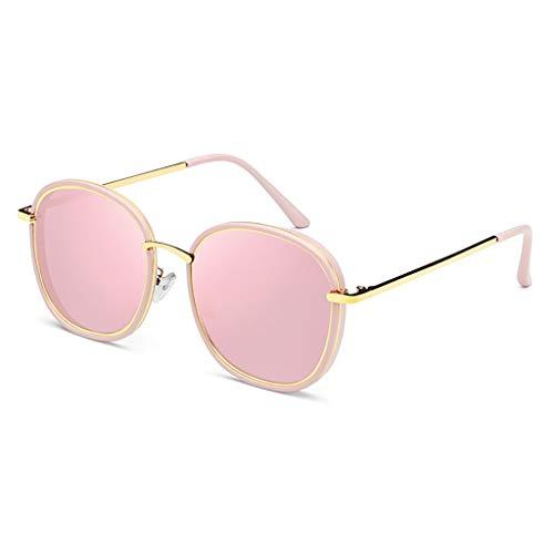 KISlink Sonnenbrille Retro Persönlichkeit Sonnenbrille Rundes Gesicht Großer Gesichtsrahmen Stern Sonnenbrille Brillen (Farbe: 4)