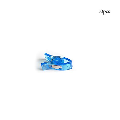 Clip Blind (CTGVH Nähen Clips, 10Stk, gehäkelte und Stricken Clips für Quilten Binding Clips Büroklammern Blinder Clips (Blau))