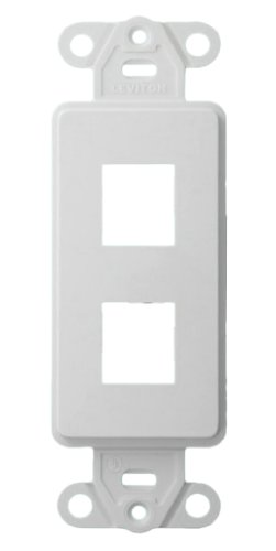 Leviton QuickPort 2-Port Decora Wallplate Insert, White - Quickport Decora Insert