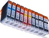 10 kompatible Druckerpatronen für Canon IP4850 IP4950 MG5150 MG5250 MG5350
