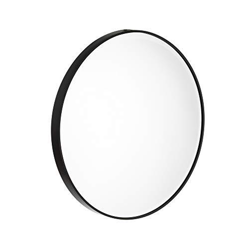 Espejo baño Aluminio Negro Moderno Cuarto baño 40