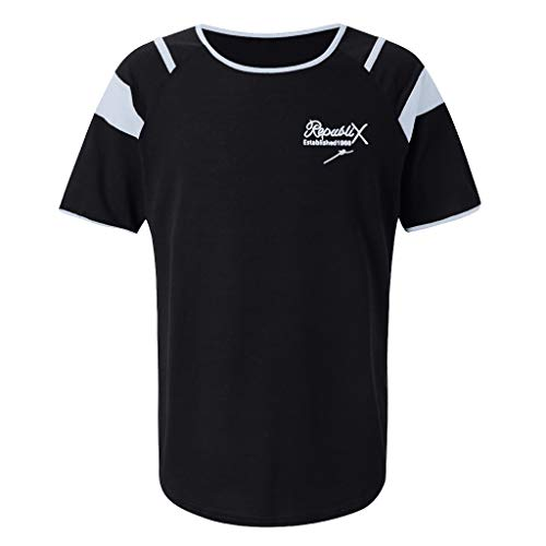 BURFLY Sommer Herren Casual Brief drucken Nähte kurzärmeliges T-Shirt Herren Casual Fitness Sport schnell trocknendes Hemd