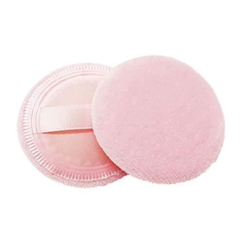 Frcolor 8pcs maquillage mélange éponge de soufflage de poudre cosmétique pour le visage (rose; 4.5x0.8cm)