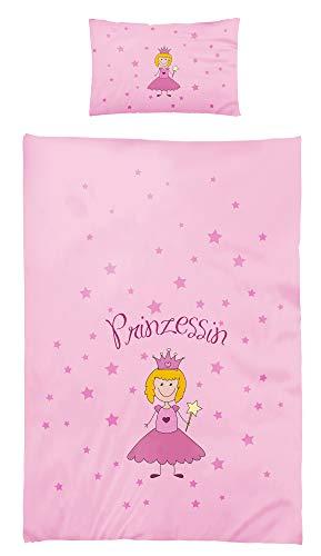 Kinder Bettwäsche Babybettwäsche 100x135 cm 40x60 cm 100% Baumwolle Kinderbettwäsche Set Prinzessin (Mädchen Kinderzimmer-bettwäsche-set)