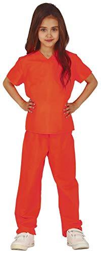 Halloween Jail Kostüm - Fancy Me Mädchen Orange TV Gefangener Sträfling Jail Uniform Halloween Karneval Kostüm 5-12 Jahre