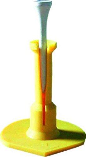 Longridge Golf Zubehör AdjuSTable Slotted Range Tee 100ST Bulk, Gelb (Golf-tees-adjustable)