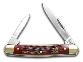 Hen and Rooster Red Picked Bone Pen Pocket Knife Knives -