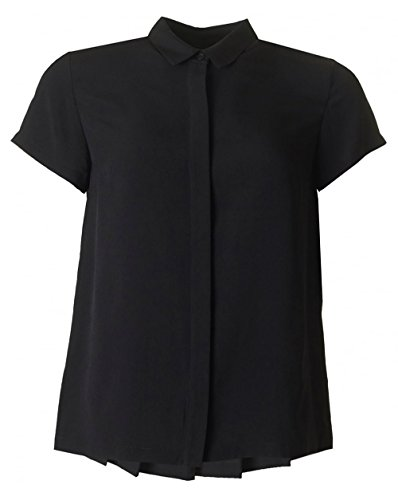 French Connection Classic Crepe Light, Camicia Donna, Black, Medium