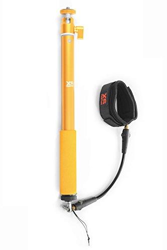 X-Sories XSBIG Combo Big U-Shot/Cord-Cam Wrist Pack mit Teleskopstab für GoPro Kamera (0,3-0,9 m, Sicherheitsleash für Handgelenk) Gold (Cam-combo)