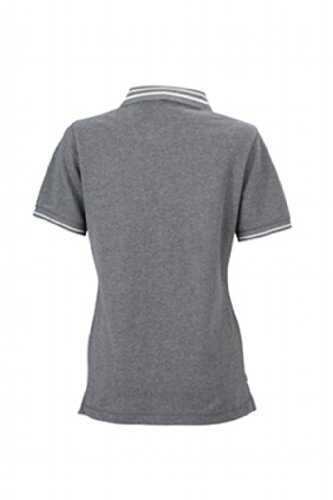 James & Nicholson Damen Poloshirt Ladies' Lifestyle grey-melange/off-white