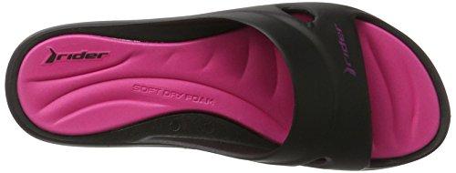 Rider Rider Slide Feet Vii Fem, Sandales  Bout ouvert femme Mehrfarbig (black/pink)