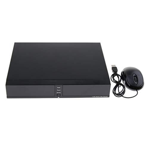 P Prettyia 4 Kanal 1080P Digitaler H.265 Videorekorder Netzwerk NVR, unterstützt 4 TB Festplatte für Bewegungerkennung - Festplatte Dvr-dvd-rekorder