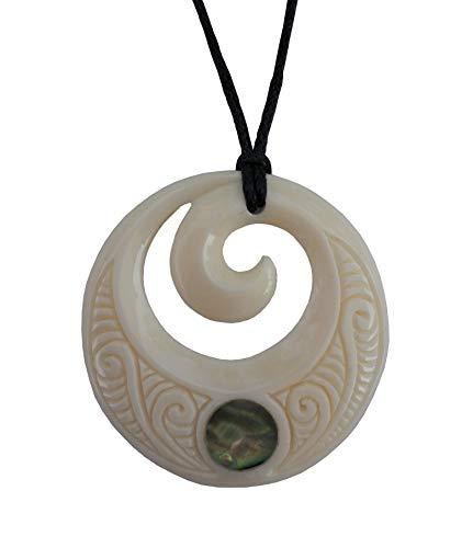 Hand Carved Maori Bone Amp Paua Shell Buy Online In Brunei At Desertcart
