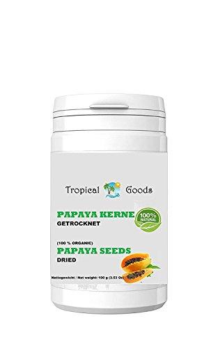 100 g NATUR PAPAYA KERNE - PAPAYA PFEFFER - PAPAYA SAMEN - SONNENGETROCKNET (UNTER 30°C) ROHKOST QUALITÄT (Samen-enzym Papaya)