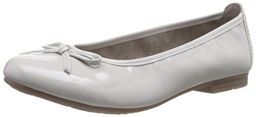 Softline 22163 Damen Geschlossene Ballerinas Grau (Lt.Grey Patent 281)