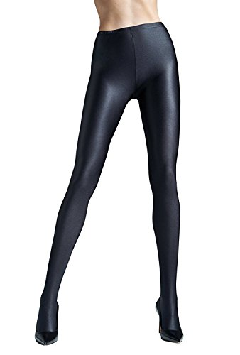 Gatta Black Brillant – blickdichte, topmodisch glänzende Strumpfhose - Größe 4-L - Nero-schwarz